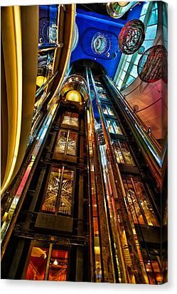 Elevators On The Royal Caribbean Adventures Of The Seas Canvas Print