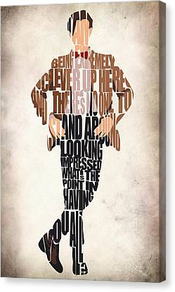 Eleventh Doctor - Doctor Who Canvas Print by Ayse and Deniz