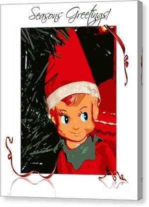 Elf On The Shelf Season's Greetings Canvas Print