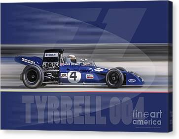 Canvas Print featuring the digital art Elf Team Tyrrell 004 by Ed Dooley