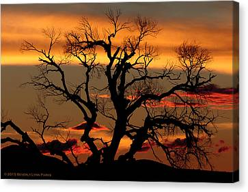 Canvas Print featuring the photograph Elgin Sunset by Beverly Parks