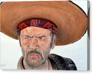 Eli Wallach As Tuco In The Good The Bad And The Ugly Canvas Print by Jim Fitzpatrick