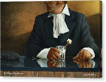 Eli Whitney And The Cotton Gin... Canvas Print by Will Bullas