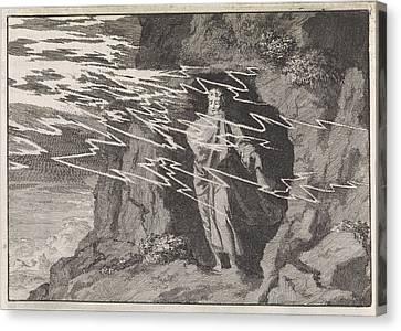Dwell Canvas Print - Elia In The Cave, Jan Luyken, Pieter Mortier by Jan Luyken And Pieter Mortier