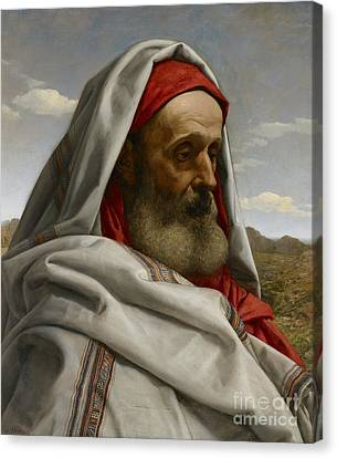 Profile Canvas Print - Eliezer Of Damascus by William Dyce