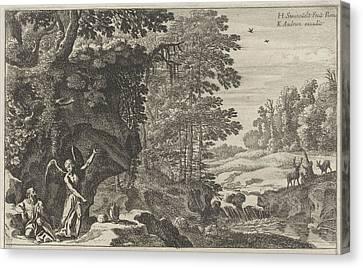 Elijah And The Angel, Herman Van Swanevelt Canvas Print