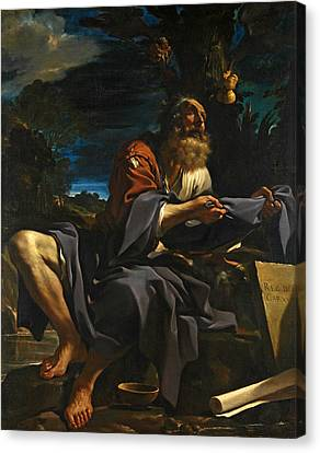 Elijah Fed By Ravens Canvas Print by Guercino