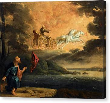 Elijah Taken Up Into Heaven In The Chariot Of Fire Canvas Print