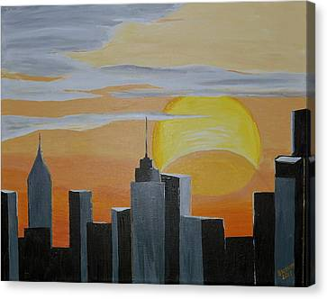 Elipse At Sunrise Canvas Print