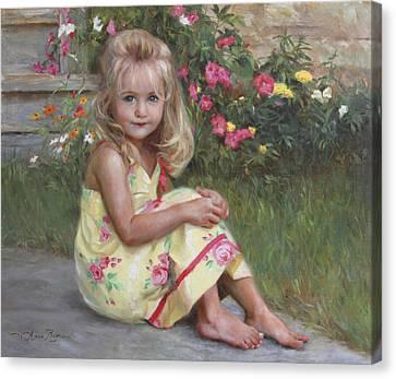 Elise Canvas Print by Anna Rose Bain