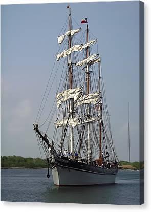 Elissa Tall Ship Canvas Print
