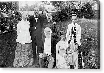 Elizabeth Blackwell And Family Canvas Print by Library Of Congress