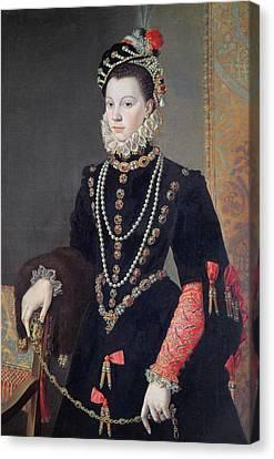 Elizabeth De Valois Canvas Print by Alonso Sanchez Coello