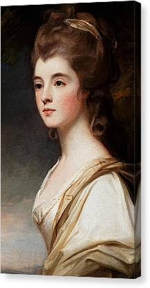 Elizabeth Duchess Of Sutherland Canvas Print by George Romney