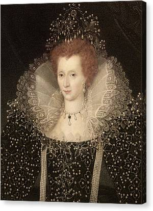 Elizabeth I Canvas Print by Paul D Stewart