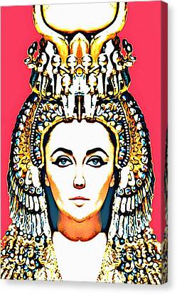Elizabeth Taylor Alias In Cleopatra Canvas Print by Art Cinema Gallery