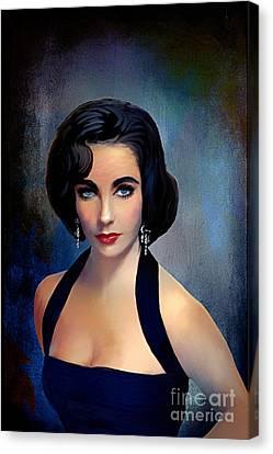 Elizabeth Taylor  Canvas Print by Andrzej Szczerski
