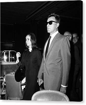 Elizabeth Taylor Holding Hands Canvas Print by Retro Images Archive