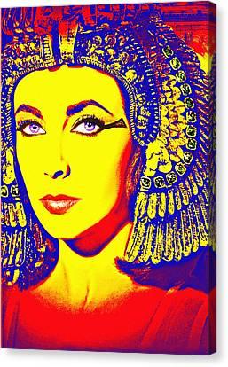 Elizabeth Taylor In Cleopatra Canvas Print by Art Cinema Gallery
