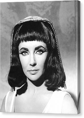 Elizabeth Taylor In Cleopatra  Canvas Print by Silver Screen