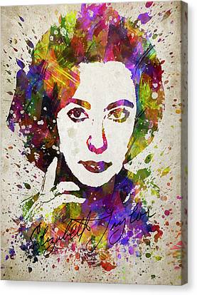 Elizabeth Taylor In Color Canvas Print by Aged Pixel