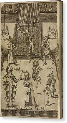 Shakespear Canvas Print - Elizabethan Figures On A Stage by British Library