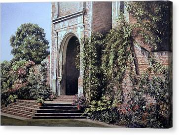 Canvas Print featuring the painting Elizabethan Tower by Rosemary Colyer