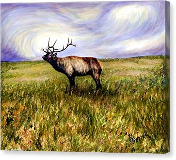Elk At Dusk Canvas Print by Ric Darrell