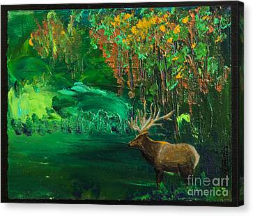 Elk Fall Canvas Print by Tracy L Teeter