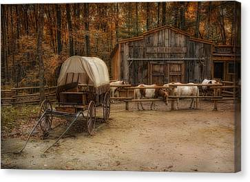 Elk Horn Livery Stable Canvas Print by Robin-Lee Vieira