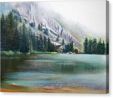 Elk Lake Mist Canvas Print