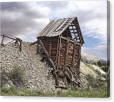 Miners Ghost Canvas Print - Elkhorn Ghost Town Mine Chute Terminus - Montana by Daniel Hagerman