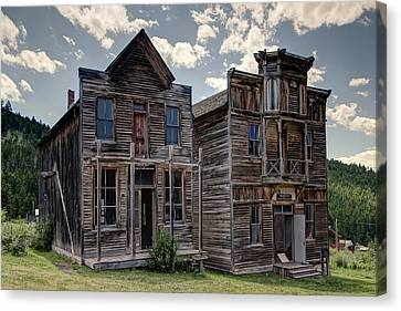 Elkhorn Ghost Town Public Halls - Montana Canvas Print