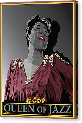 Ella Fitzgerald Jazz Singer Canvas Print by Larry Butterworth