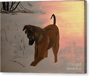 Canvas Print featuring the painting Ellee by Stuart Engel