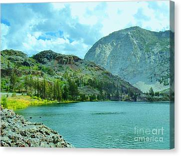 Canvas Print featuring the photograph Ellery Lake by Marilyn Diaz