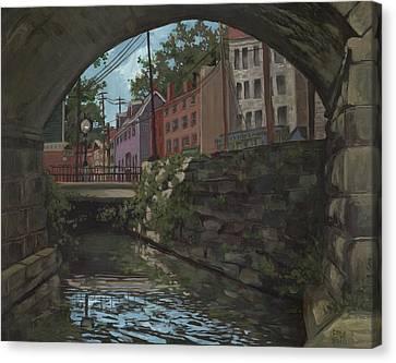 Ellicott City Bridge Canvas Print by Edward Williams