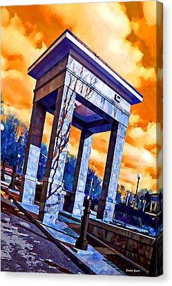 Ellicott City Courthouse Path Canvas Print