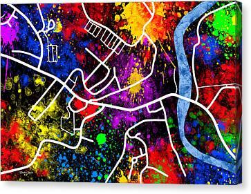 Ellicott City Map Canvas Print by Stephen Younts