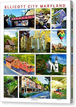 Canvas Print featuring the photograph Ellicott City Maryland by Dana Sohr
