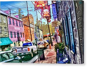 Ellicott City Street Canvas Print by Stephen Younts