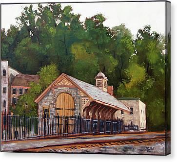 Ellicott Mills Station Canvas Print by Edward Williams