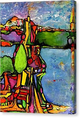 Elliott Bay Canvas Print by Chaline Ouellet