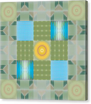 Canvas Print featuring the digital art Ellipse Quilt 1 by Kevin McLaughlin