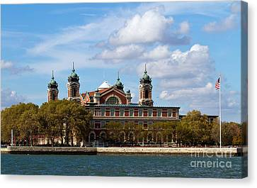 Canvas Print featuring the photograph Ellis Island by Eleanor Abramson