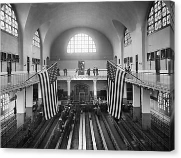Ellis Island Great Hall Canvas Print by Granger