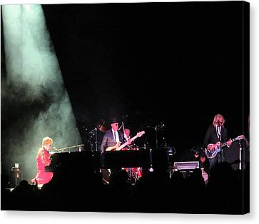 Elton And Band Canvas Print by Aaron Martens
