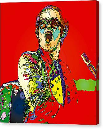 Elton In Red Canvas Print by John Farr