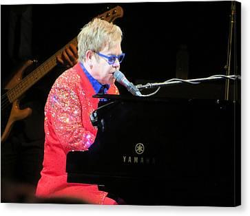 Elton John Live Canvas Print by Aaron Martens