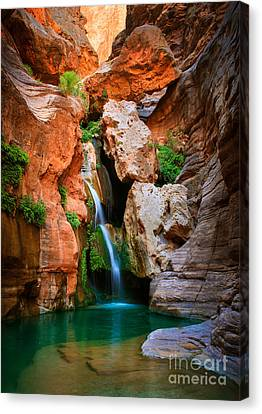 Elves Chasm Canvas Print by Inge Johnsson